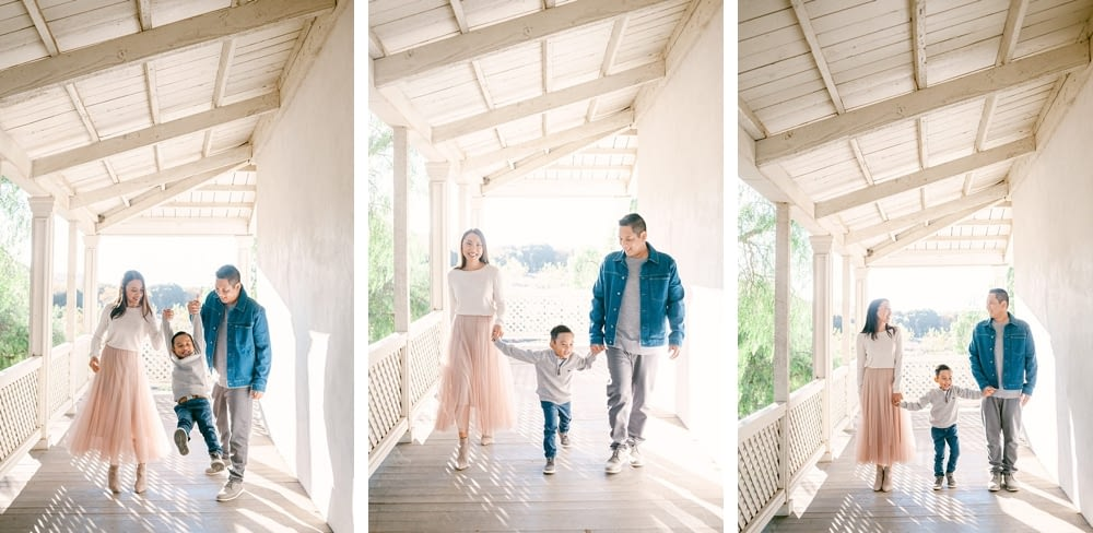Beautiful walking family photo collage by Amy Huang Photography