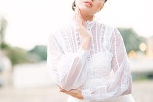 Beautiful vintage wedding dress | Photo by Amy Huang Photography, a San Diego Wedding Photographer | styled by wedding stylist Angel Tan