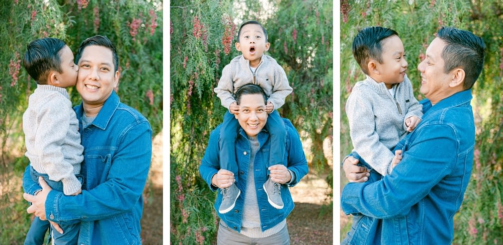 Dad and Son moments at Los Penasquitos by Amy Huang Photography