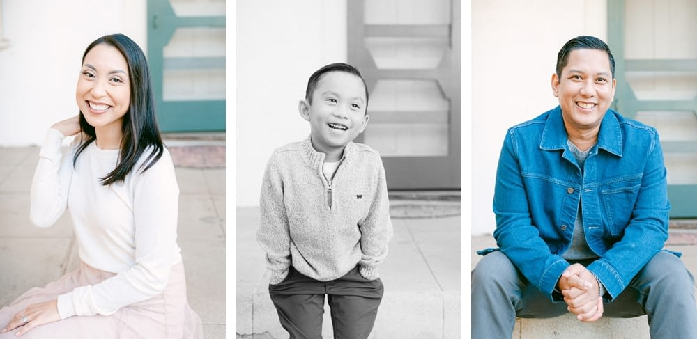 Individual Portraits of the family at Los Penasquitos by Amy Huang Photography