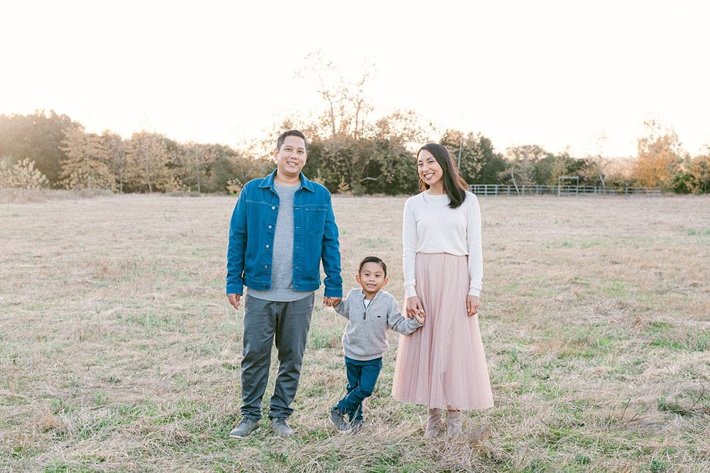 Los Penasquitos Canyon Preserve intimate family portrait with Amy Huang Photography