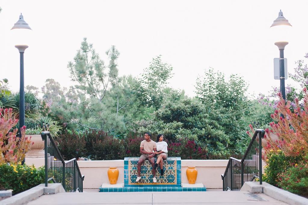 Chalani & Keith's Chic Balboa Park Engagement Session