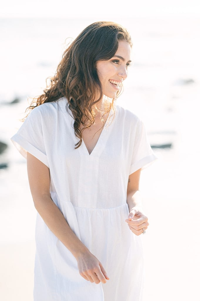 Beautiful portrait of the bride to be at the beach by Amy Huang Photography a San Diego Photographer