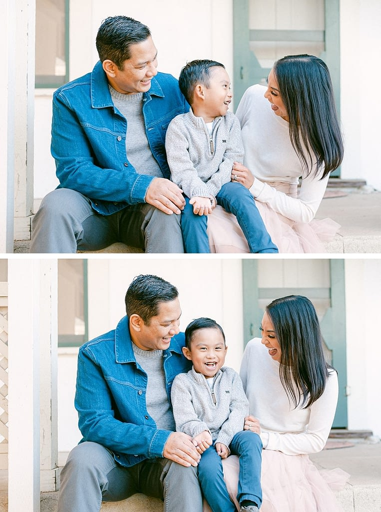 Laughter and fun Family portrait at Los Penasquitos by Amy Huang Photography